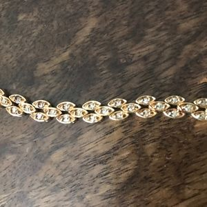 14K YG  1 1/2 Ct. Single Cut Diamond Bracelet, 7""